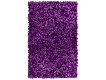 Lashuma Badematte »Chenille« , Höhe 20 mm, fußbodenheizungsgeeignet, Badvorleger Rechteckig, Größe: 50x80 cm, lila, lila