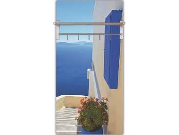 Artland Wandgarderobe »Yiannis Dimkopoulos: Treppen ins Blaue hinein«, blau, 120 x 60 x 2,8 cm, Blau