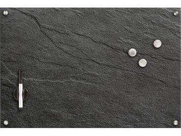 Zeller Present Zeller Memobord »Schiefer«, Glas, schwarz, Maße(B/T/H):(60/1,6/40), schwarz