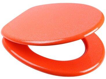 Sanilo SANILO WC-Sitz »Glitzer WC-Sitz«, mit Absenkautomatik, orange, orange/glänzend