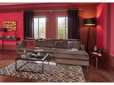 Guido Maria Kretschmer Home&Living GMK Home & Living Ecksofa groß »Renesse«, lose Kissen, Keder an Sitzkissen, braun, braun