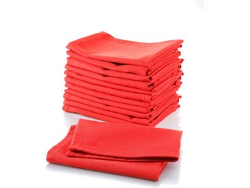 Stoffserviette »Uni-Rot«, (Set, 12 St), rot, Baumwolle,Polyester, rot