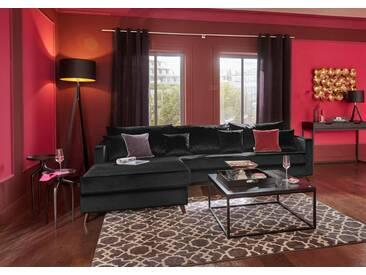 Guido Maria Kretschmer Home&Living GMK Home & Living Ecksofa groß »Renesse«, lose Kissen, Keder an Sitzkissen, schwarz, schwarz