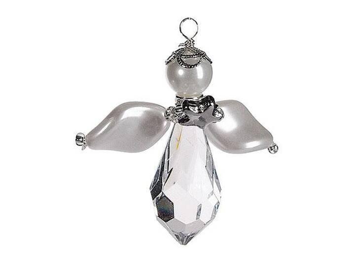 Bastel-Set Engel Luna, silberfarben, silber Silber