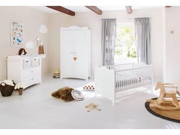Pinolino® Pinolino Babyzimmer Set (3-tlg) Kinderzimmer »Florentina« breit, weiß, weiß