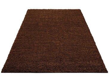 Home affaire Hochflor-Teppich »Shaggy 30«, rechteckig, Höhe 30 mm, braun, 30 mm, braun