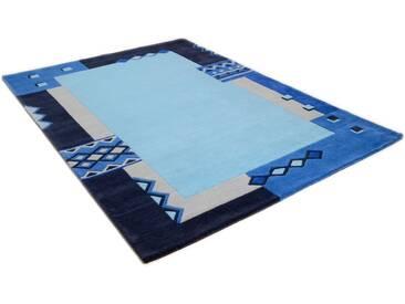 THEKO Teppich »Florida 3193«, rechteckig, Höhe 14 mm, blau, 14 mm, blau