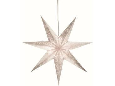 STAR Star Papierstern zum Hängen, mit Kabel »Metasol«, weiß, Breite x Tiefe x Höhe in cm : 60 x 16 x 60, Weiß