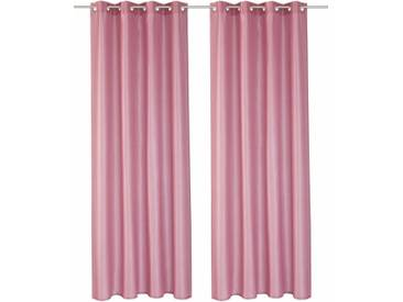Home affaire Vorhang »Leticia«, Ösen (2 Stück), rosa, Ösen, halbtransparent, rosé