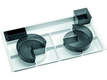 FACKELMANN Badorganizer »Schub«, Einlage für 80er-Schubfach, 5-tlg., weiß, weiß/grau
