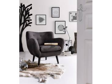INOSIGN Sessel im Retro-Style, grau, anthrazit
