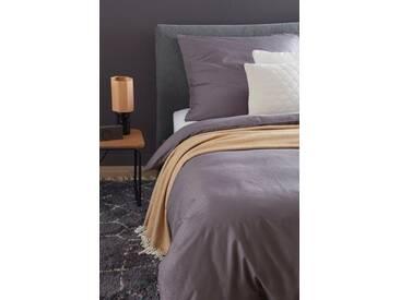 SCHÖNER WOHNEN-Kollektion Bettwäsche »Stern«, mit grafischen Design, lila, 1x 135x200 cm, Satin, dunkellila