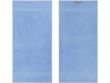 Egeria Badetuch »Diamant«, in Uni gehalten, blau, Frotteevelours, hellblau