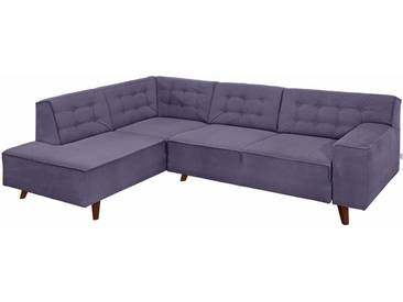 Tom Tailor Ecksofa »Nordic Chic«, lila, 249 cm, Ottomane links, purple STC 18