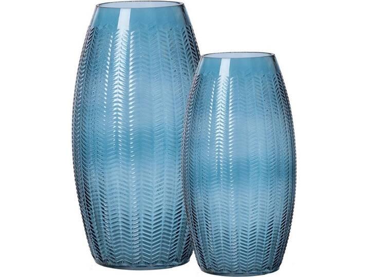 Ritzenhoff & Breker Vasen-Set, Glas, 2er Set , »BOA«, blau, blau Blau