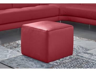 NATUZZI EDITIONS Hocker »Genua« in zwei Lederqualitäten, rot, red