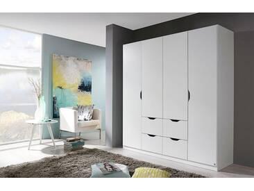 rauch PACK´S Kleiderschrank »Freiham«, mit Schubkästen, weiß, Breite 181 cm, 4-türig, weiß