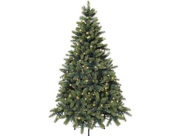 Künstlicher Weihnachtsbaum, mit LED-Lichterkette, grün, 210 cm, grün