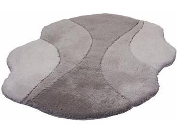 Kleine Wolke Badematte »Excelsior« , Höhe 25 mm, rutschhemmend beschichtet, fußbodenheizungsgeeignet, grau, 25 mm, platinfarben