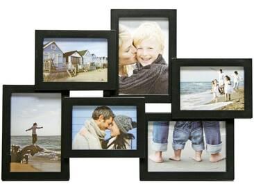 Henzo Galerierahmen »Holiday schw. Galerie für 6 Bilder 3x9x13 3x10x15«, schwarz, black