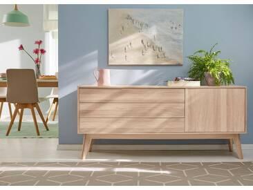 Guido Maria Kretschmer Home&Living GMK Home & Living Sideboard «Calluna», im trendigen, skandinavischen Design, Breite 160 cm, natur, natur/geölt