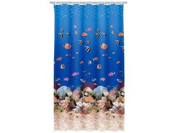 Kleine Wolke KLEINE WOLKE Duschvorhang »Aqua«, Breite 180 cm, blau, blau