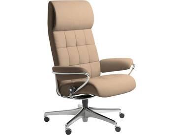 Stressless® Hochlehner Relax- Bürosessel Home Office »London«, mit Schlaffunktion, natur, latte