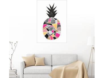 Posterlounge Wandbild - Elisabeth Fredriksson »Hübsche Ananas«, weiß, Forex, 50 x 70 cm, weiß
