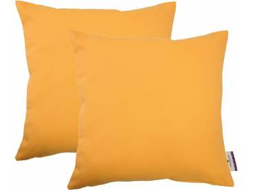 Tom Tailor Kissenhülle »Dove«, gelb, Baumwolle, gelb