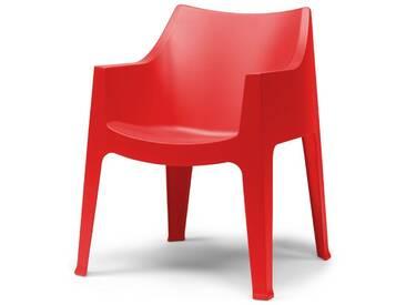 SalesFever Gartenstuhl mit Armlehnen aus Kunststoff »Coccolona«, rot, rot