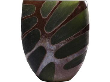 KARE Design Vase »Leaf«, grün, Maße (B/T/H): 21,5/13,5/25,5 cm, grün