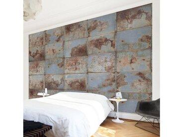 Bilderwelten Vliestapete Breit »Shabby Industrial Metalloptik«, bunt, 190x288 cm, Farbig