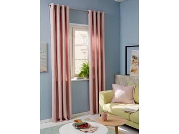Guido Maria Kretschmer Home&Living Vorhang »Garden Solid«, Ösen (2 Stück), rosa, Ösen, transparent, rosé