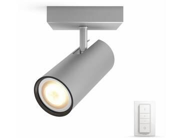 Philips Hue LED Deckenstrahler »Buratto«, 1-flammig, Smart Home, silberfarben, 1 -flg. /, silberfarben