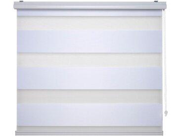 Liedeco Doppelrollo »DUO-Rollo mit 20 cm Streifen«, Lichtschutz, mit Bohren, im Fixmaß, weiß, weiß