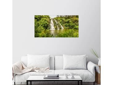 Posterlounge Wandbild - Thomas Hagenau »Wasserfall Coromandel II Panorama«, grün, Holzbild, 180 x 90 cm, grün