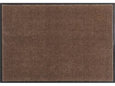 HANSE Home Fußmatte »Deko Soft«, rechteckig, Höhe 7 mm, saugfähig, waschbar, braun, 7 mm, braun