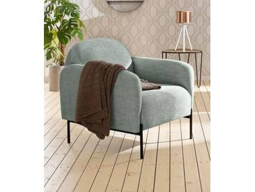 andas Sessel »Bold«, edles, skandinavisches Design, mit Stahlbeinen, grün, grün