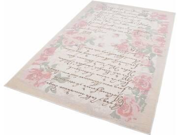 THEKO Teppich »Flomi Paris«, rechteckig, Höhe 4 mm, rosa, 4 mm, rosé