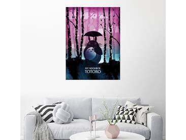 Posterlounge Wandbild - Albert Cagnef »My neighbor Totoro«, bunt, Holzbild, 120 x 160 cm, bunt