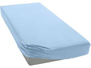 Janine Spannbettlaken »Elastic-Jersey«, auch für Wasserbetten, blau, Jersey-Elasthan, hellblau