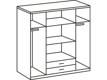 Wimex Kleiderschrank »Spectral«, weiß, ohne Spiegel, 180x197x58 (BxHxT) cm, 4-türig, weiß