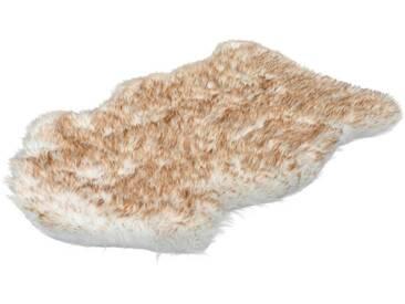 LALEE Hochflor-Teppich »Softa 800«, fellförmig, Höhe 52 mm, besonders weich durch Microfaser, natur, 52 mm, beige