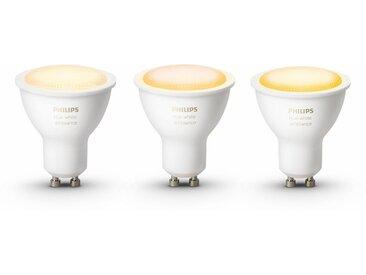 Philips Hue »White Ambiance« LED-Lichtsystem, GU10, 3 Stück, Neutralweiß, Tageslichtweiß, Warmweiß, Extra-Warmweiß, Farbwechsler, smartes LED-Lichtsystem mit App-Steuerung