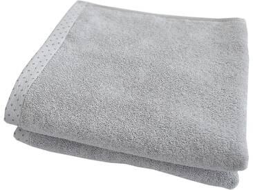 Dyckhoff Handtücher »Pünktchen«, mit gemustertem Saumabschluss, silberfarben, Walkfrottee, silberfarben