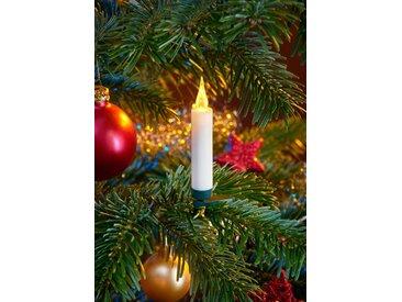 LED-Christbaumkerzen, kabellos, 20 Kerzen mit Acrylflamme, neue Technologie, täuschend echt