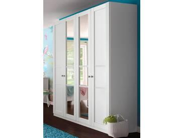 rauch SELECT Kleiderschrank, mit Spiegel, weiß, Breite 181 cm, 4-trg., ohne Aufbauservice, ohne Aufbauservice, weiß