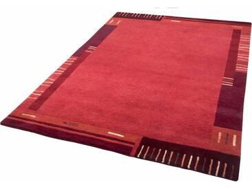 THEKO Teppich »Vancouver wool«, rechteckig, Höhe 20 mm, von Hand geknüpft, rot, 20 mm, rot