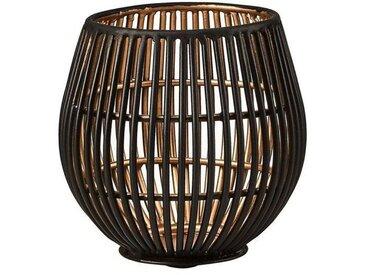 BUTLERS YOKO »Metall Teelichthalter Höhe 9 cm«, schwarz, Schwarz-Gold