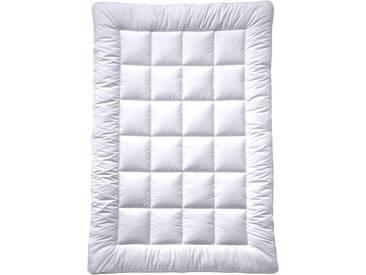 billerbeck Kunstfaserbettdecke, »Emilie«, normal, Bezug: 100% Baumwolle, (1-tlg), weiß